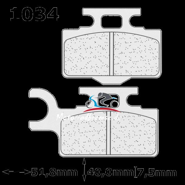 Bremsbelag 1034MX10 vorne