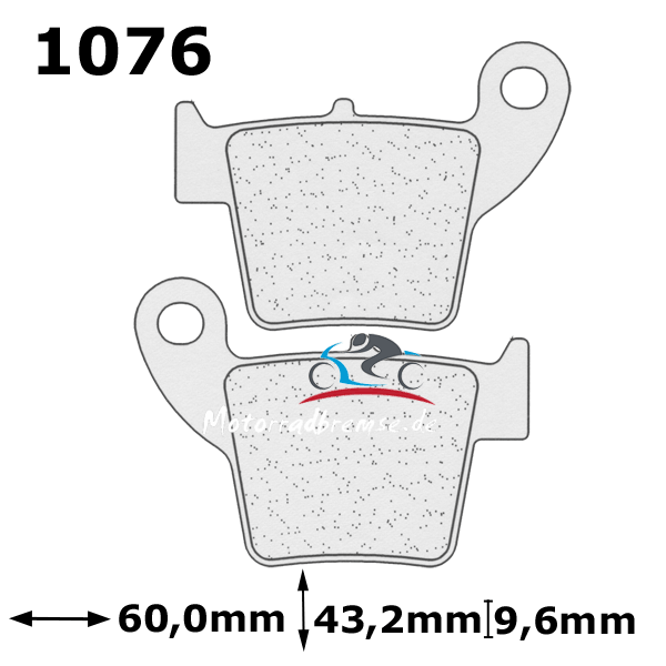 Bremsbelag 1076X59 hinten