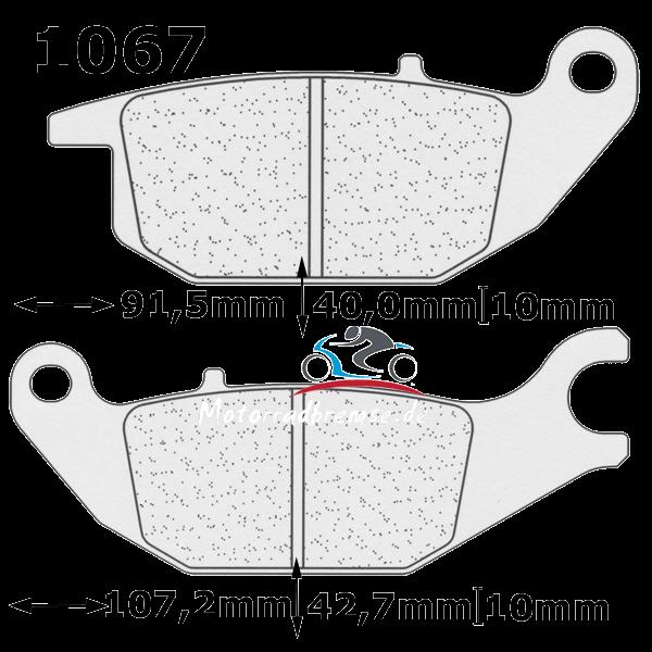 Bremsbelag 1067S4 hinten