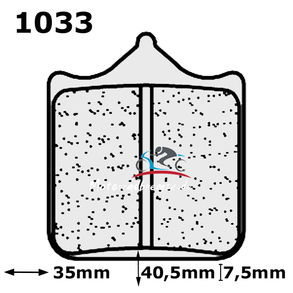 Bremsbelag 1033A3+ vorne